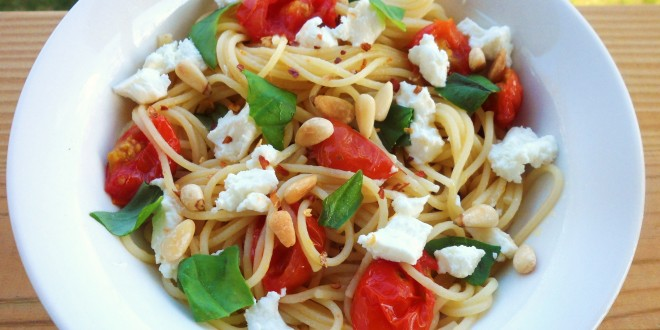 Easy Pasta with Goat Cheese – Recipe submitted by Laura Clark