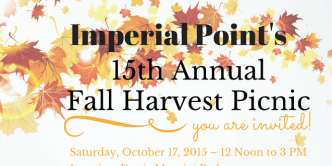 Imperial Point Association's 15th Annual Fall Harvest Picnic