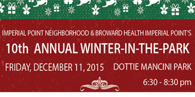 10th Imperial Point's Annual Winter in the Park 2015