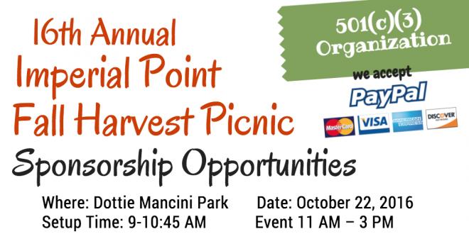 2016 Fall Harvest Sponsorship Opportunities