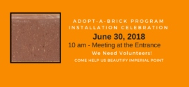 Adopt-a-Brick Program Installation Event