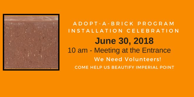Celebration Brick Program Installation Event