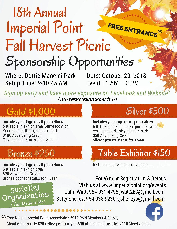 2018-Fall Harvest Sponsorship