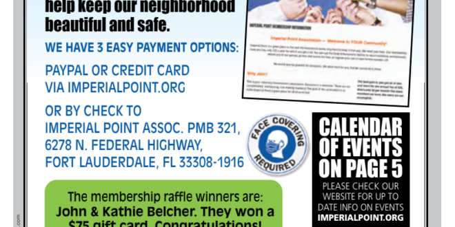 2020-08-Imperial Point Association Newsletter Cover